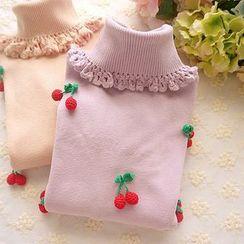 Cobblestone - Cherry-Accent Sweater