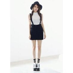COII - Colored Mini Skirt with Suspenders