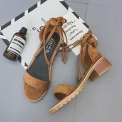Chryse - 粗跟繫帶涼鞋