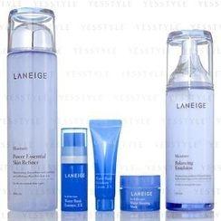 Laneige - New Basic Duo Set: Skin Refiner 200ml + Emulsion 120ml + Essence 10ml + Cream 10ml + Mask 15ml
