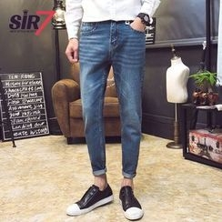 SIRIUS - Washed Elastic Jeans