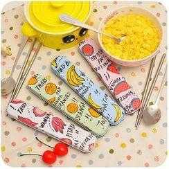 默默愛 - 旅行餐具套裝: 勺子 + 筷子