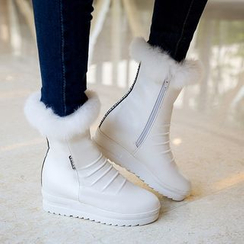 Pretty in Boots - Fleece-Lined Snow Boots