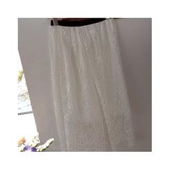 LEELIN - Lace A-Line Long Skirt