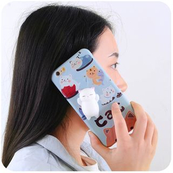 Momoi - Cat Print Phone Case - iPhone 6 / 6 Plus / 6S / 6S Plus / 7 / 7 Plus