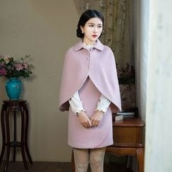GU ZHI - Set: Cape Jacket + Sleeveless Dress