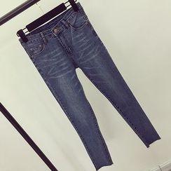 Honeydew - 仿舊窄身牛仔褲