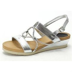 MODELSIS - Braided-Strap Sling-Back Sandals