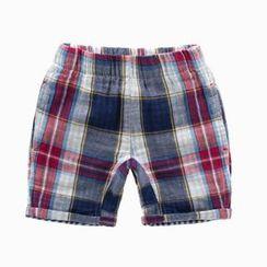 Kido - 兒童格紋短褲