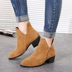 Mancienne - Faux-Suede Ankle Boots