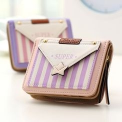 Eustoma - Pinstripe Panel Wallet