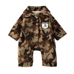 MOM Kiss - Baby Camouflage Collared One Piece