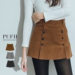 PUFII - Button Front Skirt