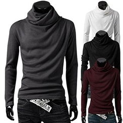 Fireon - Cowl Neck Long-Sleeve Top