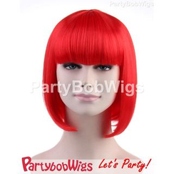 Party Wigs - PartyBobWigs - 派对BOB款短假发 - 红色