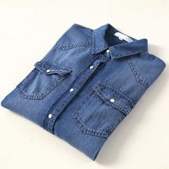 兰芝 - 水洗牛仔衬衫