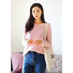 DEEPNY - Long-Sleeve Striped Cotton T-Shirt