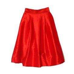 Flower Idea - Shirred Satin Midi Skirt