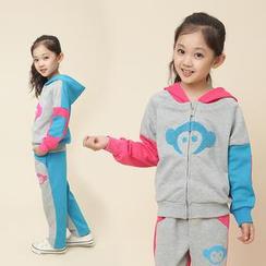 Lullaby - Kids Set: Color-Block Hoodie + Sweatpants