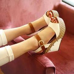 Pastel Pairs - Wedge Sandals