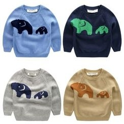 lalalove - Kids Elephant Jacquard Sweater