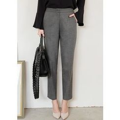 J-ANN - Flat-Front Dress Pants