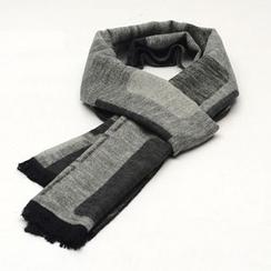 Romguest - Patterned Fringed Silk Blend Scarf