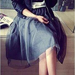 Bloombloom - Mesh Midi Skirt