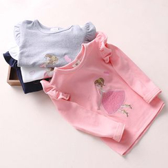 Seashells Kids - Kids Applique Long-Sleeve T-Shirt