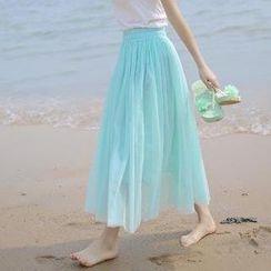 Wawa.Du - Mesh Maxi Skirt
