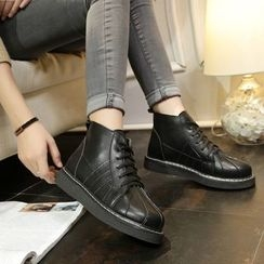 One100 - Platform Lace-Up Ankle Boots