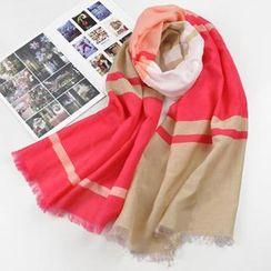 羚羊早安 - 插色圍巾