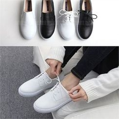 Reneve - Genuine-Leather Slip-Ons / Sneakers