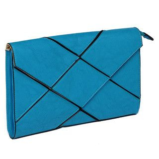 YesStyle Bags - Geometric Panel Envelope Clutch