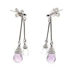 Bellini - Amethyst and White Topaz 'Pretty Little Dancer' Earrings