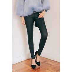 PPGIRL - Fleece-Lined Skinny Pants