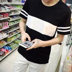 NAPO - 撞色T恤