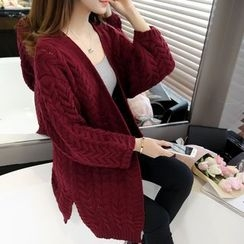 Shomez - Open Front Chunky Cardigan