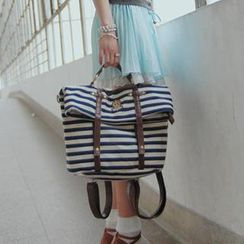 SUPER LOVER - Striped Satchel