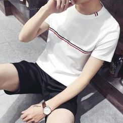 ZZP HOMME - Stripe Short-Sleeve T-Shirt