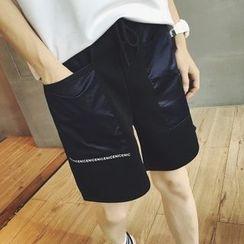 ZZP HOMME - Lettering Neoprene Shorts