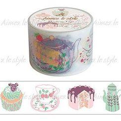 Aimez le style - Aimez le style Masking Tape Primaute Wide Tea & Cake