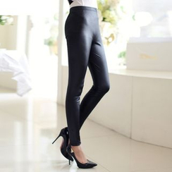 Cobogarden - Faux Leather Leggings