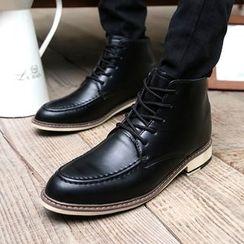 Easy Steps - 内增高系带踝靴