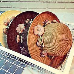 Pompabee - Flower Straw Hat