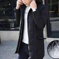 WOOG - Hooded Long Padded Jacket