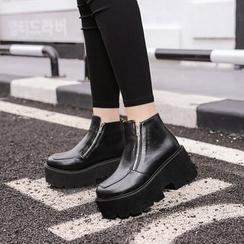 安若 - 厚底拉链踝靴