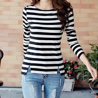BuDDy - Long-Sleeve Striped T-Shirt