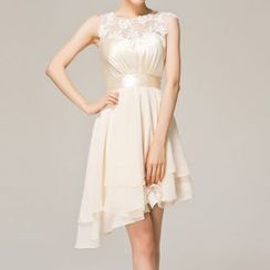Bridal Workshop - 无袖不对称雪纺礼服裙