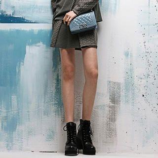 I-DOU - Cable-Panel Miniskirt